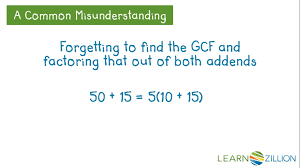 Finding Gcf And Lcm Worksheets Find The Gcf Of Two Numbers Using The Distributive Property
