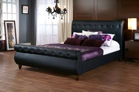 black leather tufted bed frame home sweet home pinterest