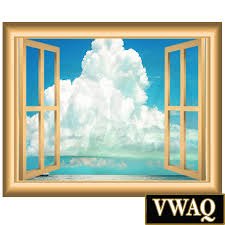 ocean clouds wall decal window frame vinyl wall art peel and stick