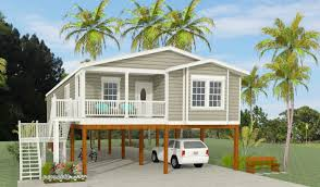 exterior rendering of jacobsen home model tnr 6481b raised on