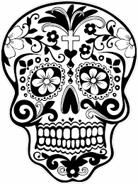 dead skull coloring pages glum