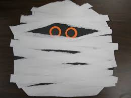 Childrens Halloween Craft Ideas - mummy face kids halloween craft
