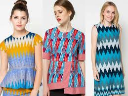 gambar model baju batik modern model baju batik rangrang modern 2018