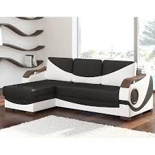 canapé d angle blanc et noir meuble de salon canapé canapé d angle gauche sofamobili