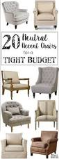 Macys Sleeper Sofa Alaina by 20 Neutral Accent Chairs For A Tight Budget Spaces Living Rooms