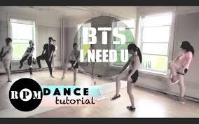 tutorial dance who you bts i need u dance tutorial chorus youtube