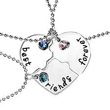 best friends puzzle necklace images Sexy sparkles 3 pcs set best friends forever and ever bff necklace eng jpg
