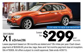 bmw payment lease the bmw x1 xdrive28i for only 299 a month at passport bmw