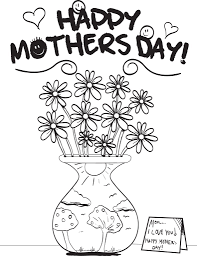 coloring pages mothers day flowers free printable mother s day flowers coloring page for kids supplyme