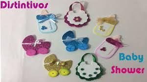 como hacer distintivos para baby shower youtube