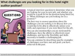 Night Auditor Job Description Resume by Hotel Night Auditor Interview Questions