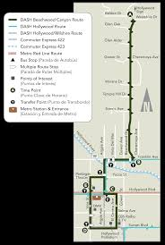 Dmv Metro Map by Dash Beachwood Canyon Ladot Transit Services