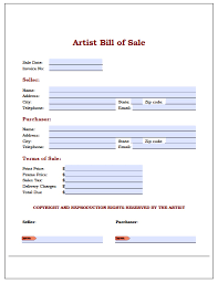 Used Car Bill Of Sale Pdf by Download Art Painting Bill Of Sale Form Wikidownload