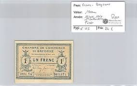 chambre commerce bayonne billet necessite ancien deux franc chambre de commerce bayonne