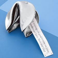 silver fortune cookie gift personalized luck gifts at personal creations