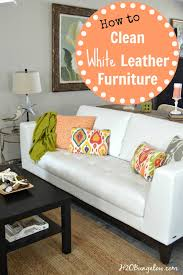 Leather Sofa Discoloration How To Clean White Leather Furniture