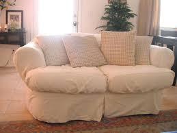 Loveseat Slipcovers With Two Cushions Slipcovers For Sofas With Back Cushions Pottery Barn Sofa