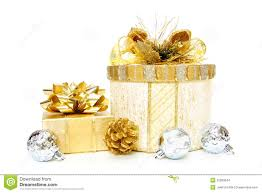 gold christmas gift boxes stock images image 22089044