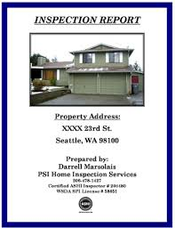 sample house inspection report psi home inspection services seattle wa