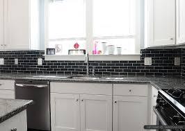 black subway tile kitchen backsplash subway backsplash ideas mosaic modern tile backsplash com