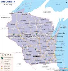 wisconsin map usa state map