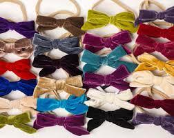 velvet bows velvet bow headband etsy