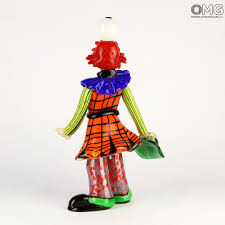 clown figurine magician u0027s illusion with egg original murano glass omg