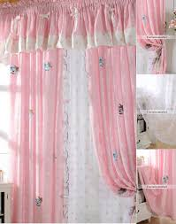 Curtains 80 Inches Long Patterned Pink Kids Room Curtains For Little Girls