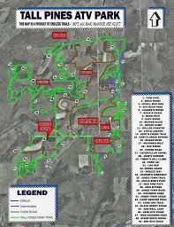 Bear Creek Trail Map Our Trails U2013 Tall Pines Atv Park