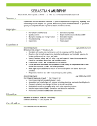 Resume Format For Mechanical Best Aircraft Mechanic Resume Example Livecareer