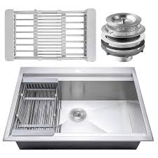 Kitchen Sink Tray Akdy Stainless Steel 30 X 22 Drop In Kitchen Sink With Tray