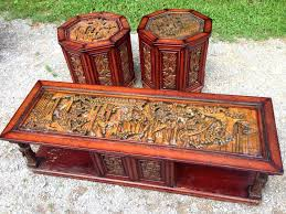 hand carved coffee table perfect for interior design regency hand