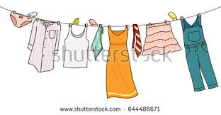 laundry line design clothes on washing line isolated on stock photo photo vector