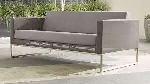Patio Furniture Without Cushions Dune Sofa With Sunbrella Cushions In Lounge Furniture Reviews