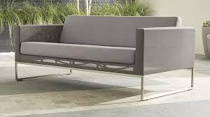 Patio Furniture With Sunbrella Cushions Dune Sofa With Sunbrella Cushions In Lounge Furniture Reviews
