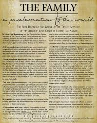 family proclamation new free lds family proclamation the living printables