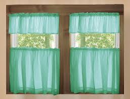 Mint Colored Curtains Mint Green Solid Colored Kitchen Cafe Tier Curtains
