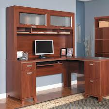 Bush L Shaped Desk With Hutch Bush Cabot L Shaped Desk With Optional Hutch Home Furniture