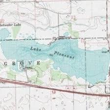 lake pleasant map lake pleasant steuben county indiana reservoir kinderhook usgs