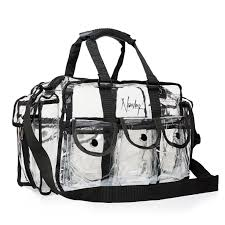 makeup kit bag from nanshy pro collection see through on set