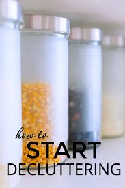 how to start decluttering sarah titus