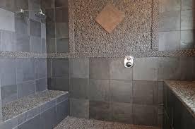 Grey Metro Bathroom Tiles Black Riven Slate Tiles Tile Other Metro By Nustone Gray Bathroom