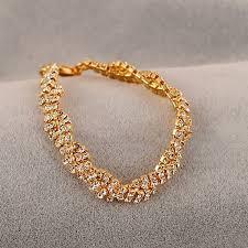 rhinestone necklace bracelet images Gold silver crystal rhinestone chain bracelet women jewelry jpg