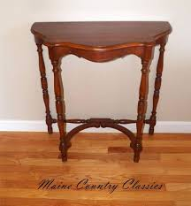 Entry Hall Furniture by Vintage Solid Cherry Half Round Wall Console Table Occasional