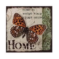 Wholesale Distributors Home Decor Rustic Butterfly 3 D Wall Art