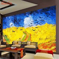 online 3d home paint design large van gogh oil painting wheat field with crows 3d room photo