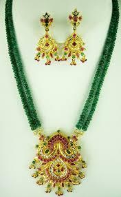 emerald necklace sets images 22kt gold ruby emerald necklace set pstn0089 jpg