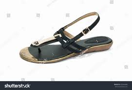 black sandals ladies on white background stock photo 422449990