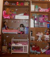 how to turn a bookcase into american doll house youtube