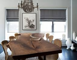 home trends design london loft dining table in walnut pairing raw beauty with sleek designs through live edge tables
